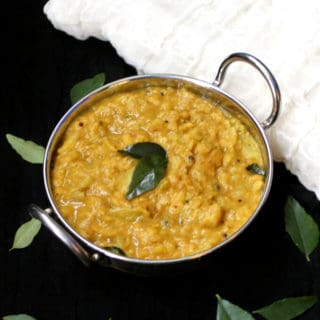 South Indian Cabbage Dal, Cabbage Kootu