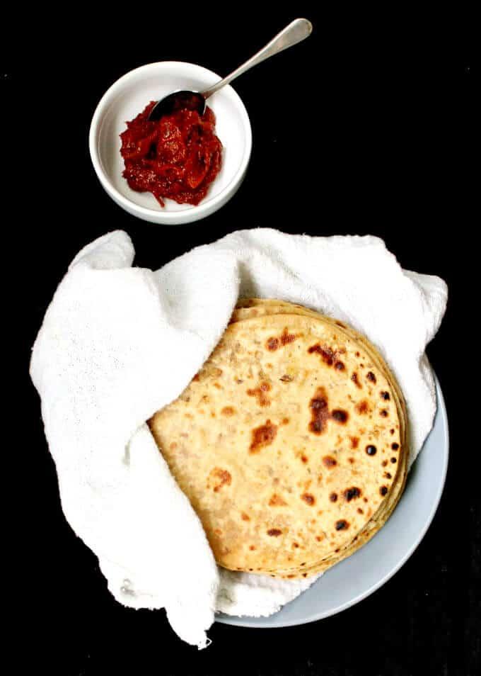 Tofu Paratha - holycowvegan.net