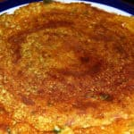 Adai, a golden South Indian crepe of rice and lentils