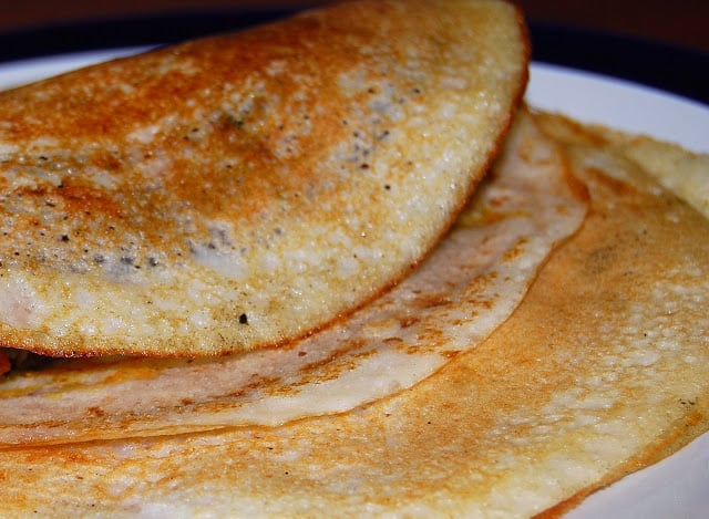 Dosa, rice and lentil crepes