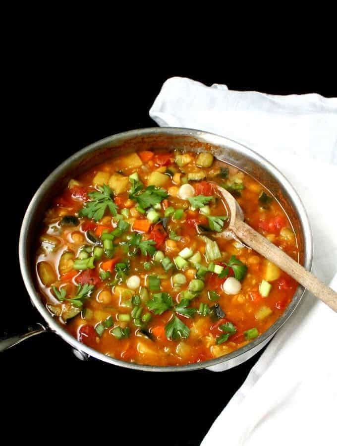Vegan Moroccan Chickpea Stew, oil-free, gluten-free, nut-free and soy-free - holycowvegan.net