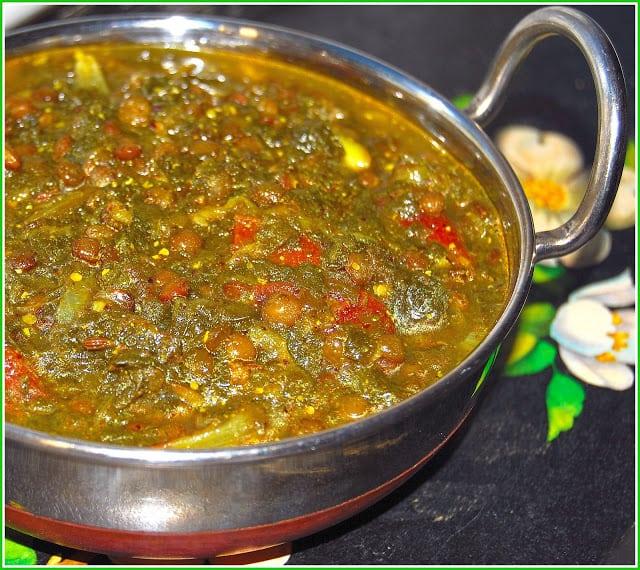 French lentil dal in kadhai bowl