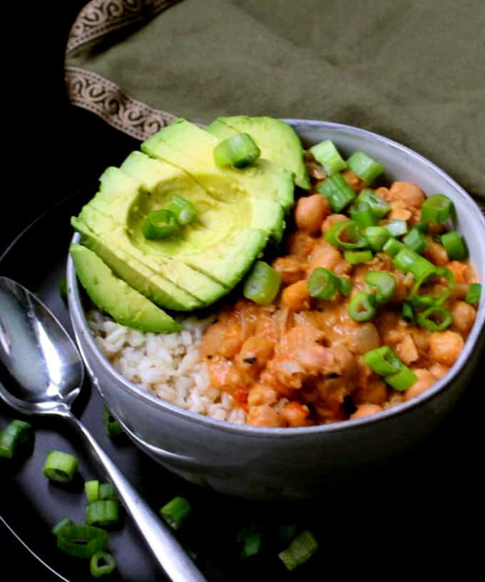 Thai Curried Chickpeas with Red Curry Paste