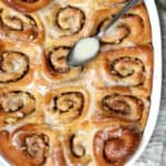 These are the best Vegan Cinnamon Rolls you will ever eat, with an addictive Vanilla Cashew Cream Glaze - HolyCowVegan.net