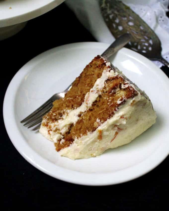 Vegan Orange Cake with Orange Marmalade Buttercream Frosting