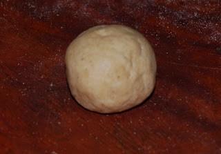 A ball of poori dough