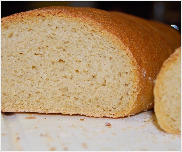 Crust and crumb of whole wheat French bread