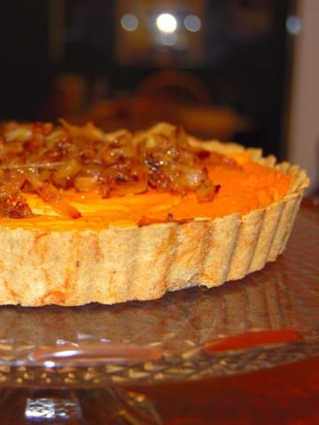 Sweet Potato Quiche, vegan