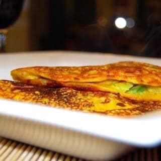 Eggless Vegetable Omelet (Besan Cheela)