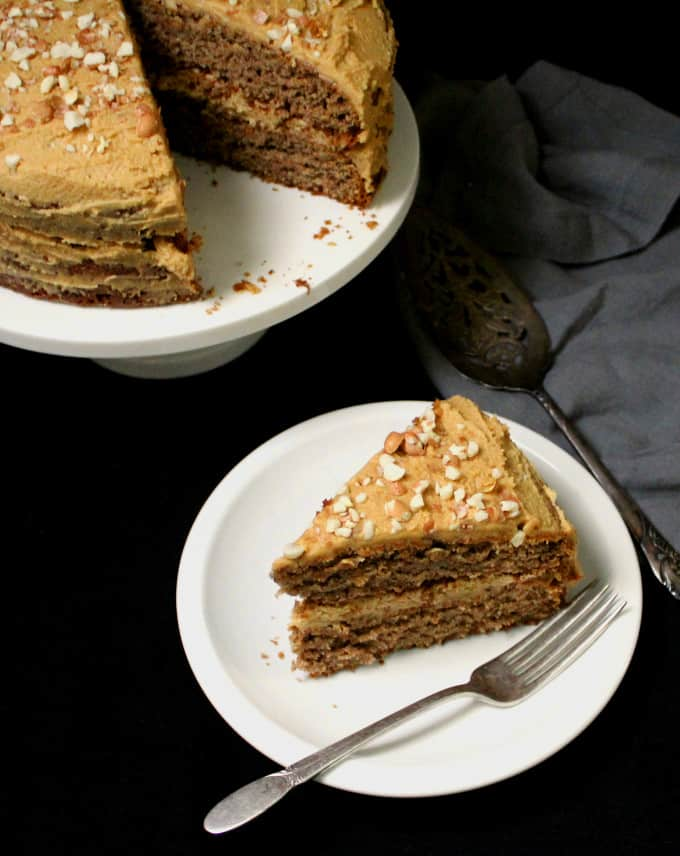 Vegan Banana Cake With Peanut Butter Frosting Holy Cow Vegan Recipes