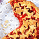 Vegan Strawberry Pie with a starry crust