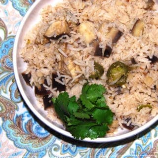 Pulao with Eggplant