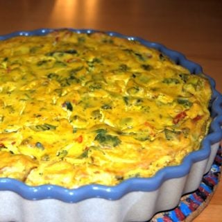 Eggless Broccoli-Tomato Frittata from Kicking Cancer in the Kitchen: Cook That Book