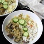 Vegan Mushroom Biryani, gluten-free, soy-free, low fat. HolyCowVegan.net