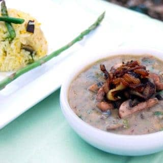 Dal with Roasted Mushrooms: Countdown to Valentine's Day