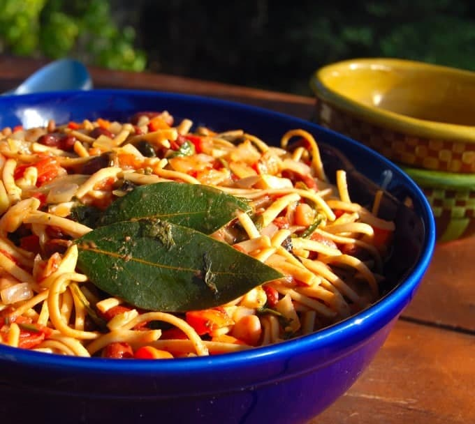 pasta with bean ragout