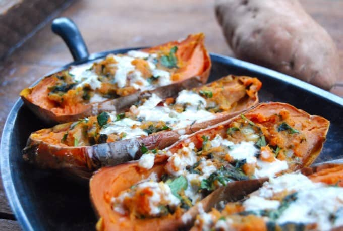 Vegan Sweet Potato Skins