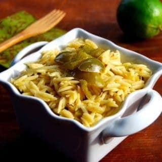 Lime Orzo with Bell Peppers