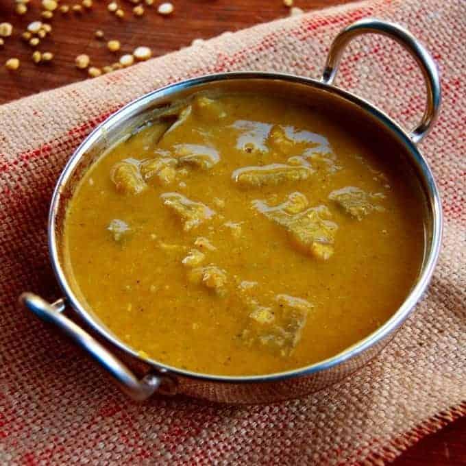 White pumpkin sambar