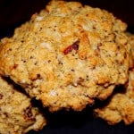 savory vegan scones with sundried tomatoes