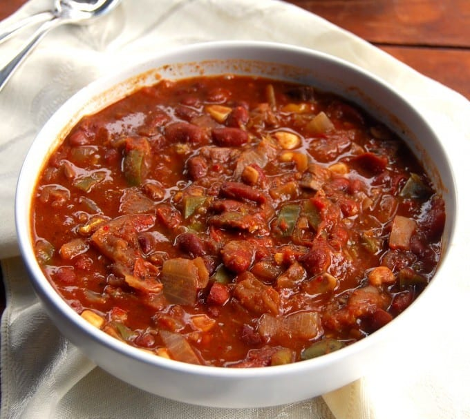 vegan crock pot chili