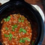 Slow cooker black-eyed peas stew