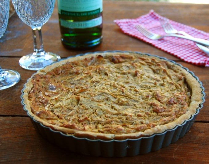 French Onion Tart, gluten-free - holycowvegan.net