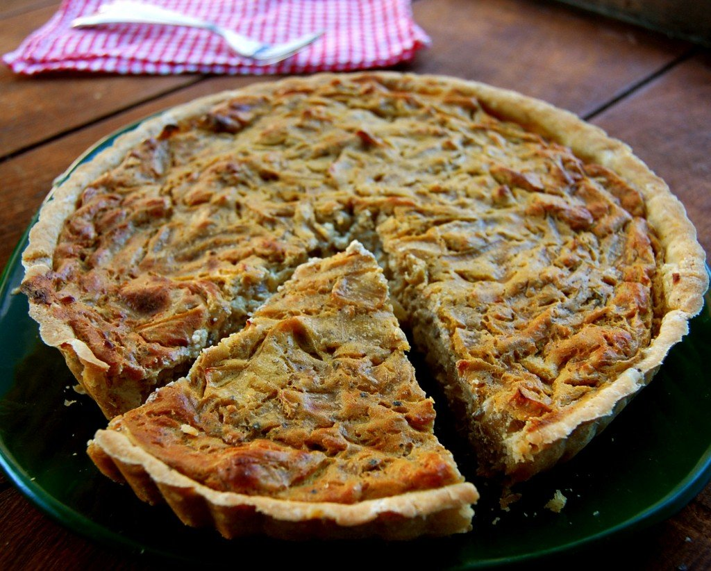 vegan onion tart