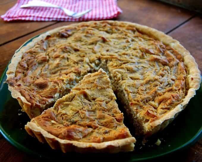 vegan onion tart