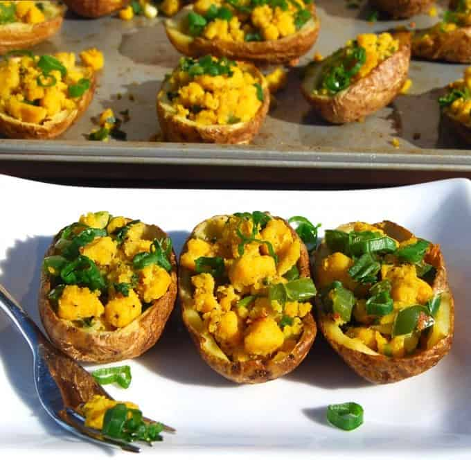 Healthy Vegan Potato Skins