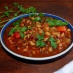 Crockpot Black-Eyed Peas Stew, Fat-Free
