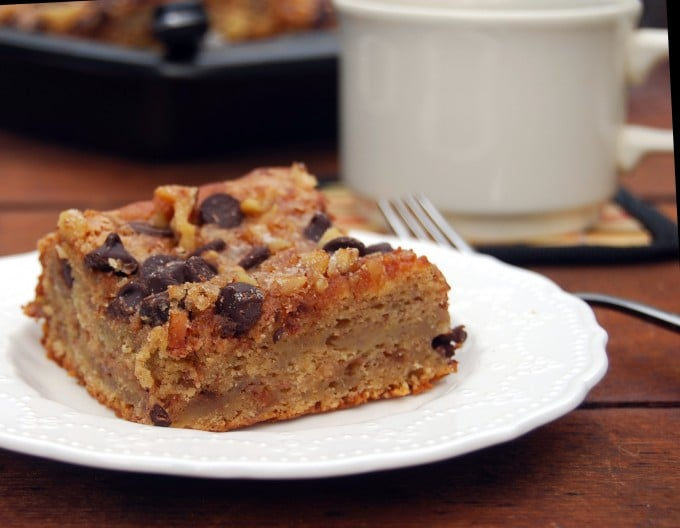 Banana Chocolate Coffee Cake