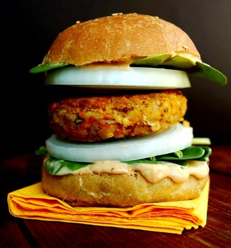Moroccan Chickpea Burger