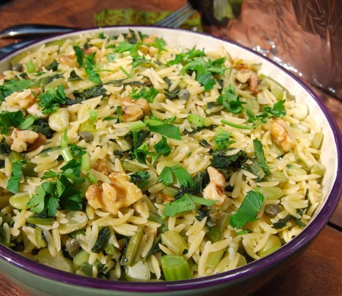 Pasta with Greens and Beans