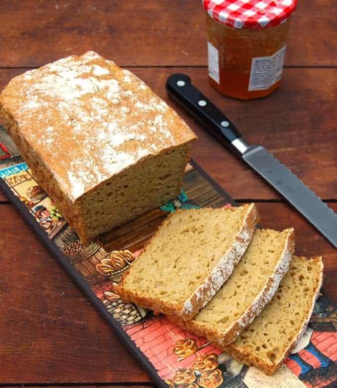 No-Knead Whole Wheat Sandwich Bread