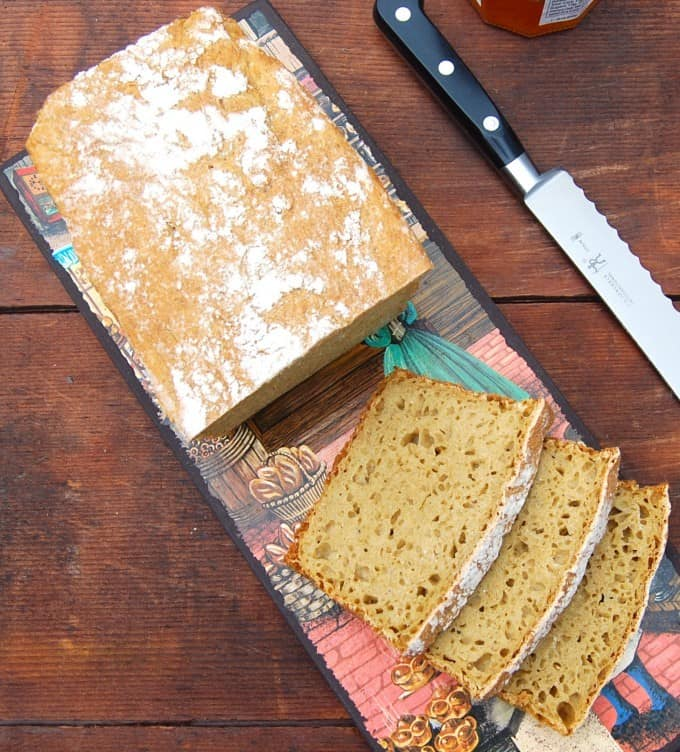 No-Knead Whole Wheat Sandwich Bread • Holy Cow! Vegan Recipes