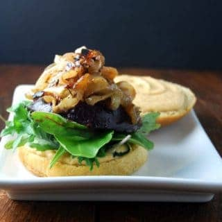 Beet Burger with Chipotle Cashew Hummus