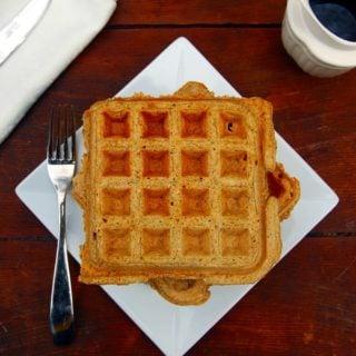 chia spelt waffles