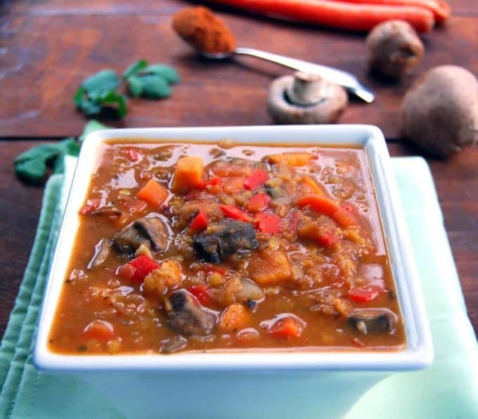 Ethiopian Stew with lentils and veggies