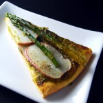 Asparagus Potato Pizza with Kale Pesto