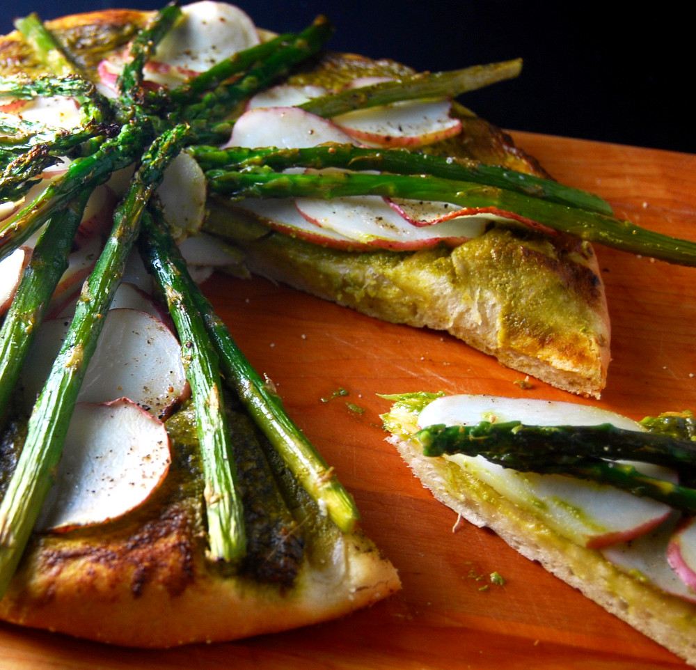 Asparagus Potato Pizza