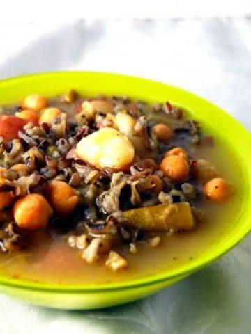 Italian Wild Rice Asparagus Soup