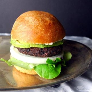 Black Bean and Black Rice Veggie Burger