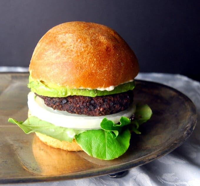 Black Bean and Black Rice BurgerHoly Cow! Vegan Recipes