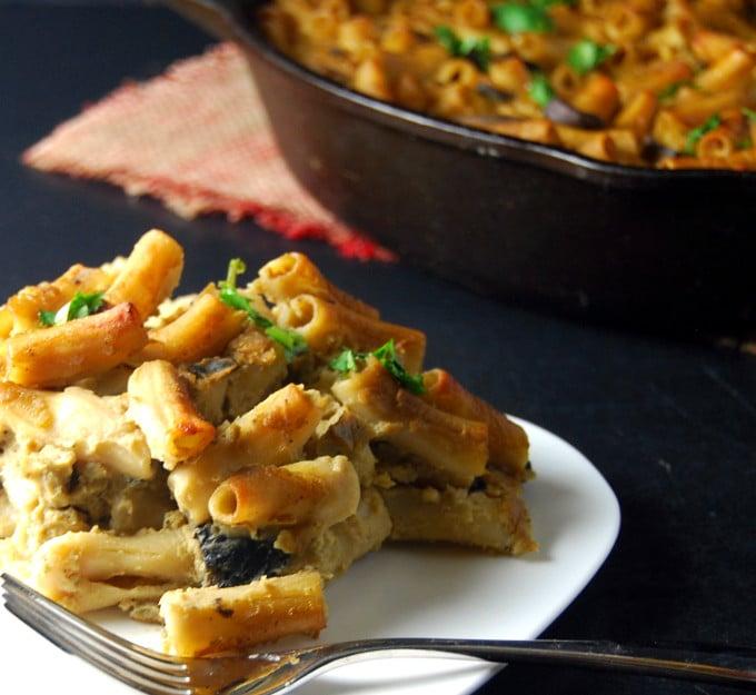 Pasta Gratin with Cauliflower Chickpea Sauce