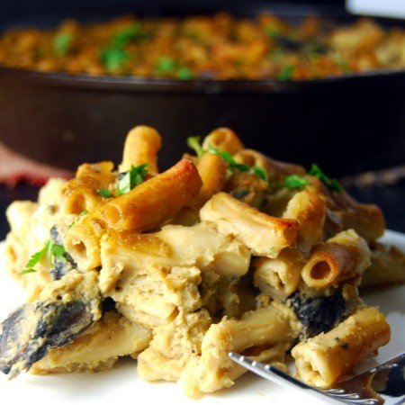 Pasta Gratin with Cauliflower Chickpea Sauce