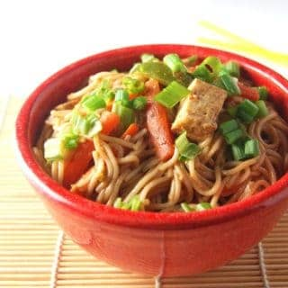 Thai Noodles in a Spicy Peanut Sauce