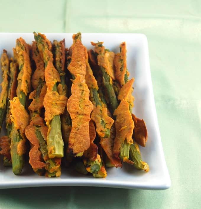 asparagus pakoras