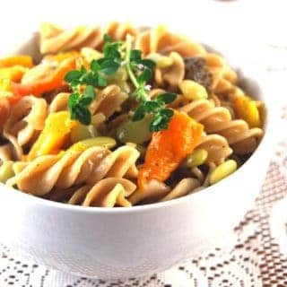 Pasta with bell peppers