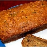 Vegan Zucchini Bread, whole-wheat and low-fat